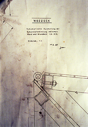 detail of stage construction plan