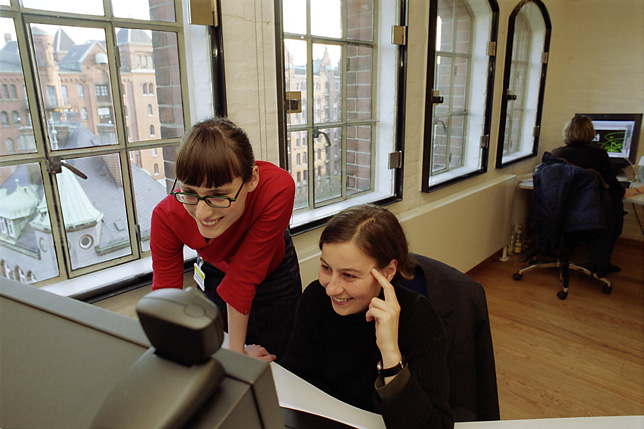 Graphic designers working at IBM e-business Innovation Center, Speicherstadt