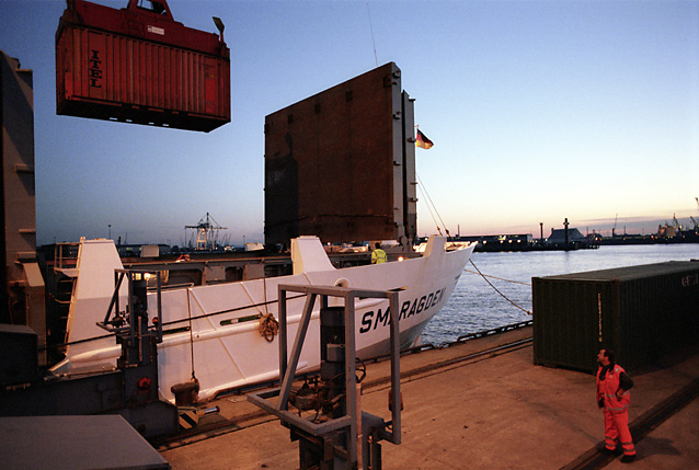 Container loading at